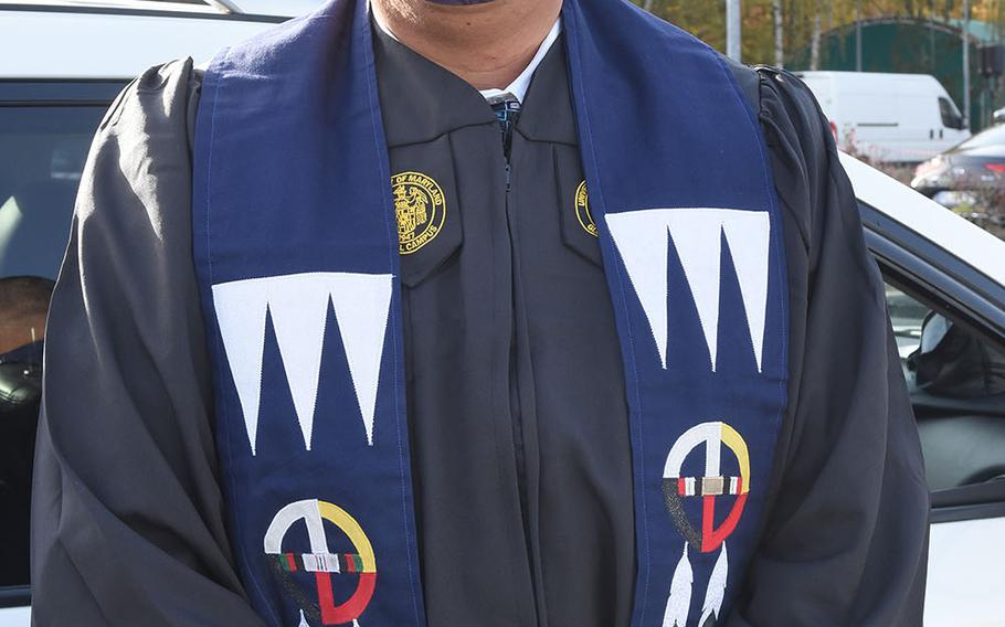 Army Sgt. 1st Class Jason World Turner received his bachelor's degree in psychology, 18 years after he joined the Army. A medic who has served three combat tours, World Turner said he plugged away at his courses for the last several years, determined to leave the Army with a college degree.