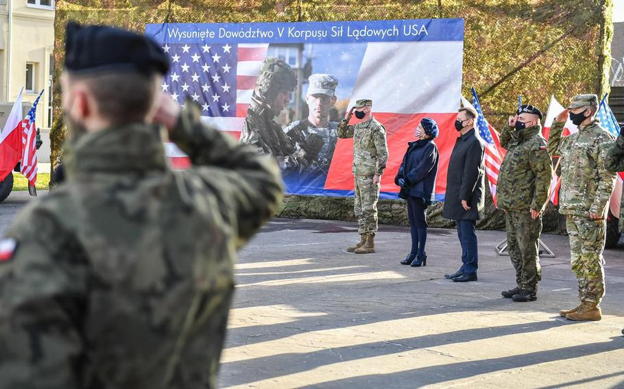 The U.S. Army's V Corps officially established their forward headquarters in Poznan, Poland, on Nov. 20, 2020.