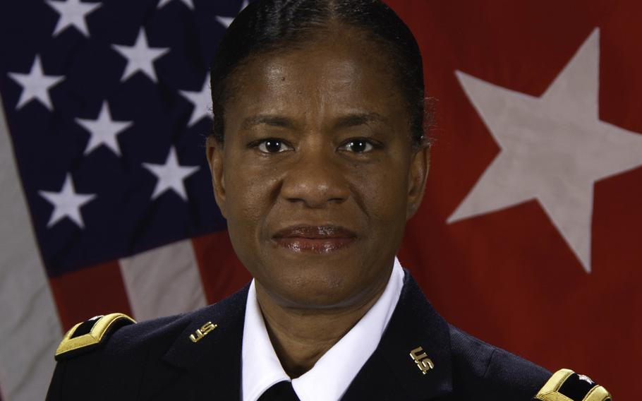 Brig. Gen. Wanda N. Williams took command of 7th Mission Support Command and became deputy commander of the 21st Theater Sustainment Command at a ceremony in Kaiserslautern, Germany, Dec. 8, 2020. She is the first Black woman to hold the job.