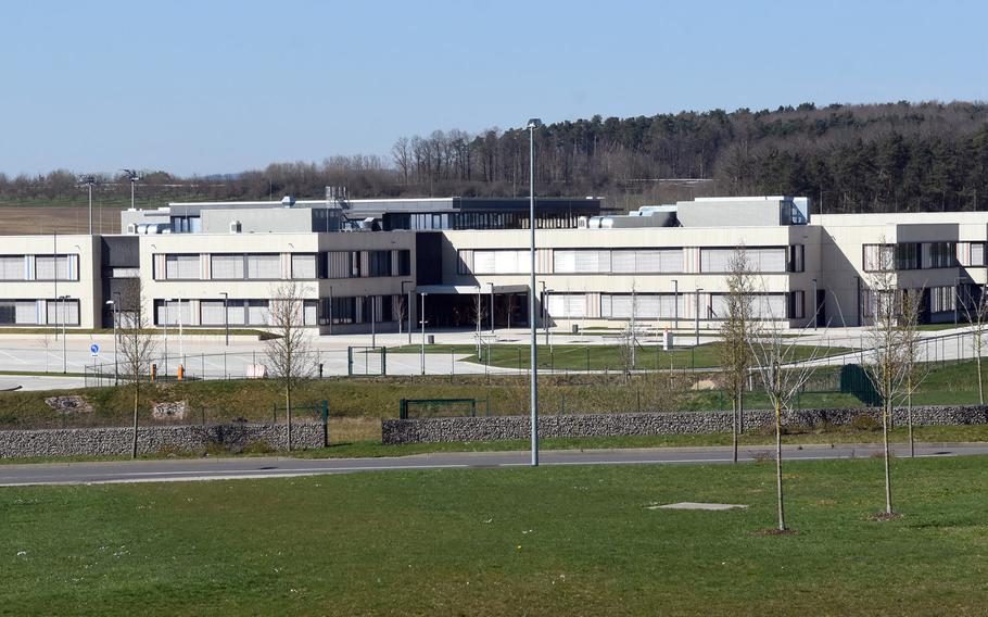 The middle and high school campus at Spangdahlem Air Base, Germany.