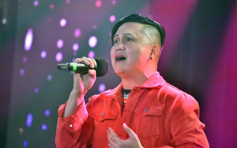 Melvin Penaflorida raised eyebrows by singing a duet by himself during taping of Aviano's Got Talent on Tuesday, Feb. 16, 2021.