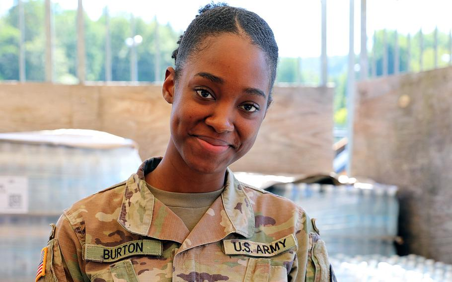 Sgt. Monesha L. Burton died in a two-car traffic accident in Kaiserslautern, Germany, March 5, 2021, the Army said Wednesday. Public Health Command Europe is holding a memorial service for her Friday.