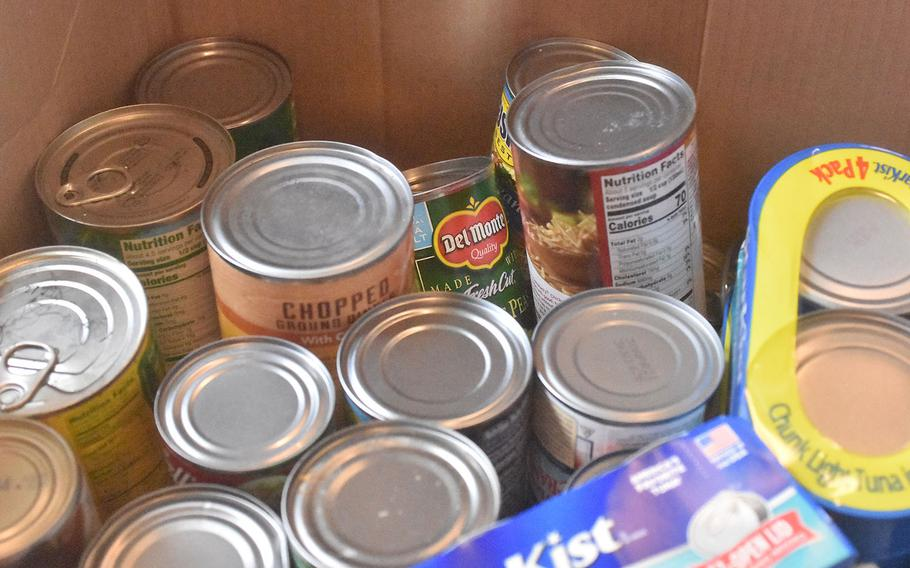 People stationed at Aviano Air Base donated more than 1,100 items of nonperishable food for those in need off base during a drive sponsored by Aviano's African American Heritage Committee.