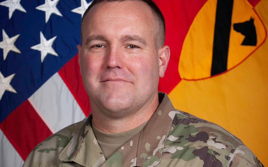 Col. Michael Schoenfeldt, 1st Armored Brigade Combat Team, 1st Cavalry Division commander, was relieved of command for health reasons while on rotation to Europe. The Fort Hood, Texas-based division is investigating allegations against Schoenfeldt of toxic leadership and violating coronavirus quarantine rules.
