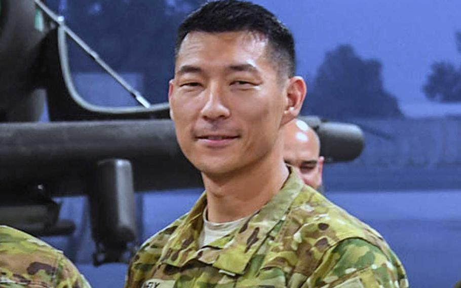 U.S. Army Lt. Col. Matthew Fix, then-commander of 1st Battalion, 101st Combat Aviation Brigade, 101st Airborne Division at Jalalabad Airfield, Afghanistan Nov. 19, 2018. Fix received a reprimand and is retiring after an investigation found that his executive officer was likely drugged at an off-limits strip club, and that Fix did not seek medical attention for the officer.