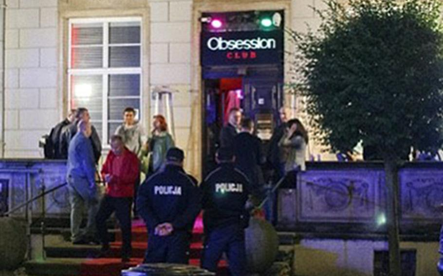 Club Obsession, a strip club in the city center of Gdansk, Poland, in an undated photo. Lt. Gen. Michael E. Kurilla, 18th Airborne Corps commander, has ordered an investigation of various misconduct allegations connected to the leadership of the 101st Airborne Division's Combat Aviation Brigade. The brigade's soldiers were involved in an incident at the off-limits club in September 2020.