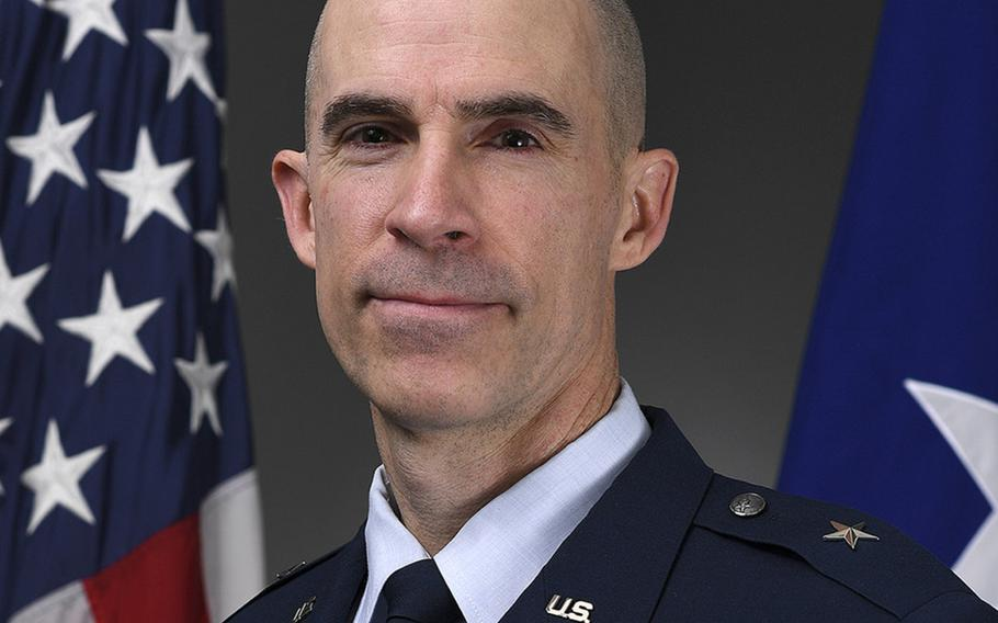 Brig. Gen. Jason Bailey, incoming commander of the 31st Fighter Wing at Aviano Air Base, Italy.