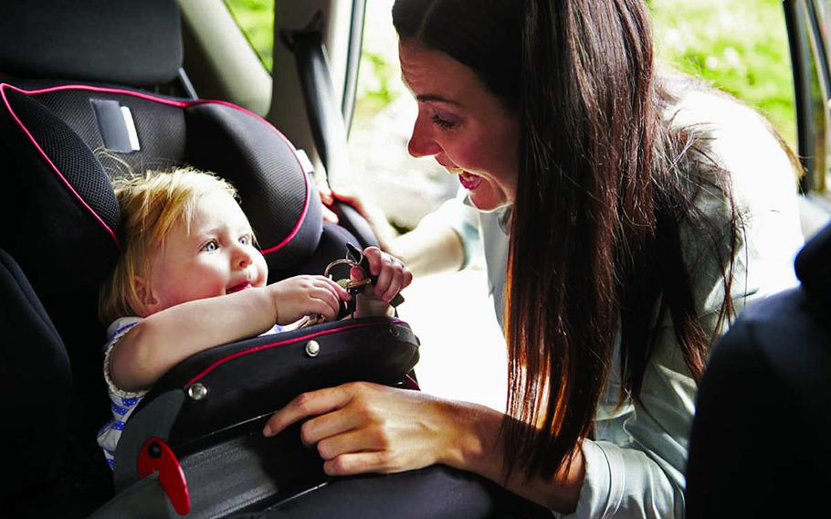Residents of Italy and U.S. retirees who have vehicles registered in the Italian vehicle registration system will be required to have child safety seats equipped with an alarm that sounds if a child is left alone in a car.