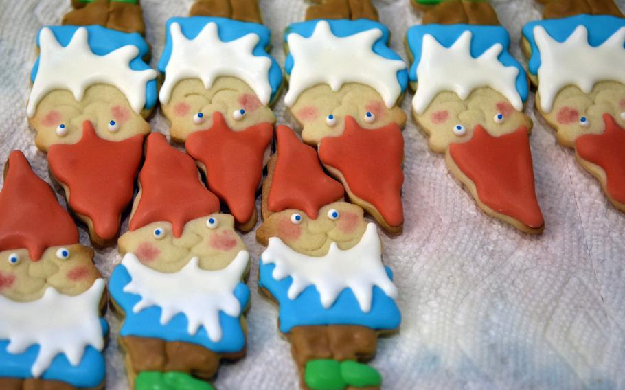 These gnomes were among thousands of homemade cookies donated for the annual cookie drive at Ramstein Air Base, Germany, Dec. 12, 2019.