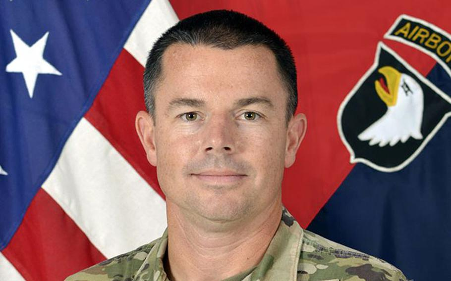 Col. Travis M. Habhab, 101st Combat Aviation Brigade commander. Lt. Gen Michael E. Kurilla, 18th Airborne Corps commander, ordered a probe to investigate various misconduct allegations connected to the leadership of the brigade, which has fallen under scrutiny since its recent Europe deployment.