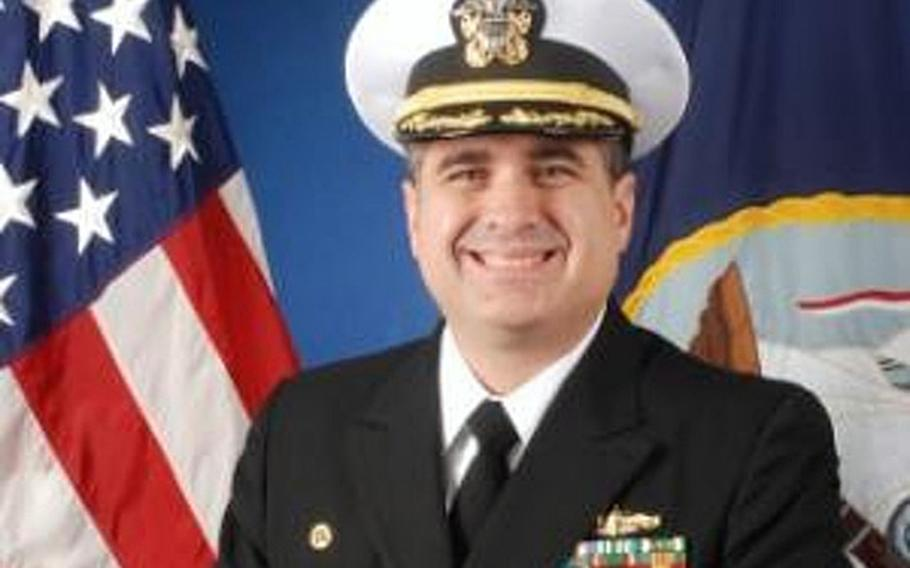 Commander Herman Pfaeffle has been relieved of command of the USS John L. Hall after the ship struck a pier in Batumi, Georgia.