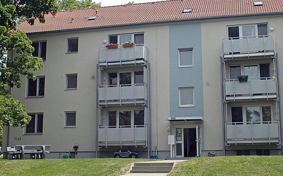 Junior enlisted soldiers arriving to Europe with their families can count on living in government housing such as this family housing unit in Wiesbaden, Germany's Hainerberg community.  A new policy is being implemented for Army garrisons around Europe to house 100 percent of all accompanied privates to staff sergeants on post, if units are available, along with up to 10 percent of accompanied senior enlisted troops and officers.