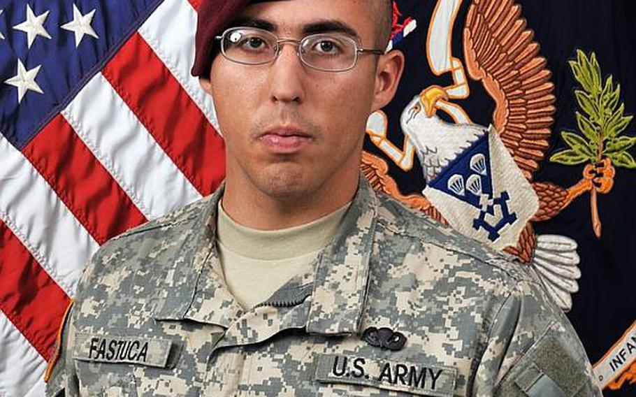 Spc. Louis R. Fastuca, 24, of West Chester, Pa., died of wounds after the vehicle he was in struck a roadside bomb in Afghanistan on July 5. A memorial service was held for Fastuca in Vicenza, Italy, on Tuesday. He was a member of the 173rd Airborne Brigade Combat Team.