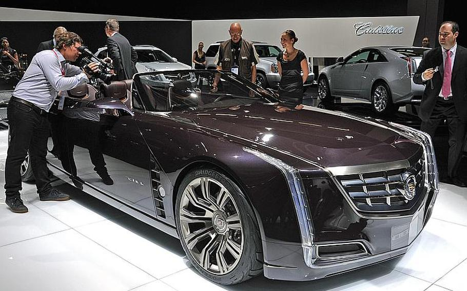 Cadillac's concept convertible, the Ciel, drew a lot of attention on the first press day at the Frankfurt International Motor Show. The show that also goes by its German initials IAA, opens to the general public on Saturday.