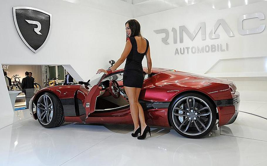 The Concept One by Rimac Automobili is powered by four electric motors that pump out 1,088hp and propel it to 62 mph in 2.8 seconds.