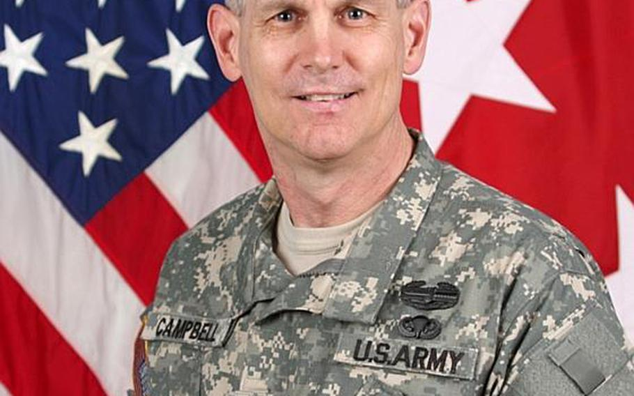 Lt. Gen. Donald M. Campbell Jr. will take command of U.S. Army Europe and 7th Army on Dec, 3, 2012, four days after relinquishing the reigns of the Army's III Corps and Fort Hood, Texas.