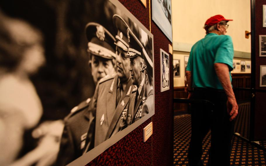 After a final retreat ceremony symbolizing the end of the U.S. Army presence in Heidelberg, Germany, guests were invited to tour the home previously occupied by commanders of U.S. Army Europe. Photos from the U.S. Army's nearly seven decades in the city were on display.