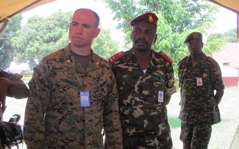 Marine Maj. John Franklin, of the 2nd Marine Expeditionary Force out of Camp Lejeune, N.C., was among 16 Marines participating in the Eastern Accord exercise in Uganda.