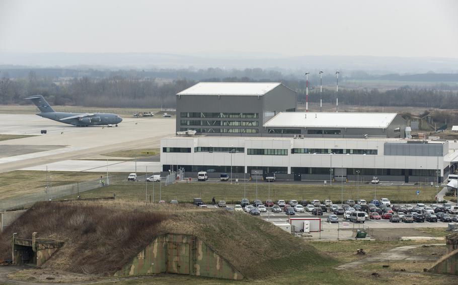 The Strategic Airlift Capability Hangar Complex is the home to the Heavy Airlift Wing at Papa Air Base, Hungary.