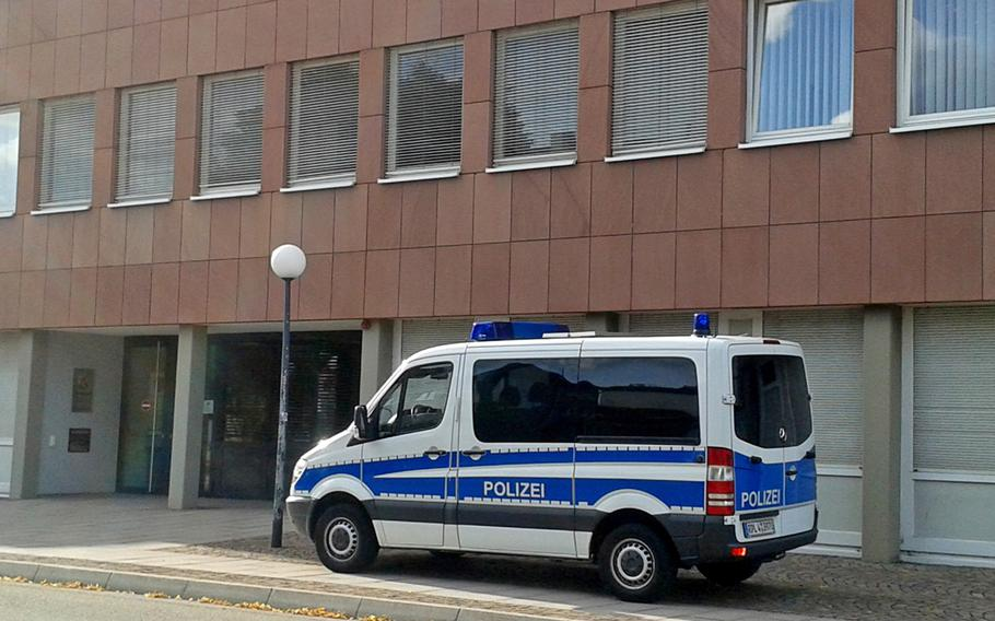 The trial continued Tuesday, Aug. 27, 2019, at the courthouse in Zweibruecken, Germany, of two of three men charged in connection with the violent invasion of an American family's home in Landstuhl in February.
