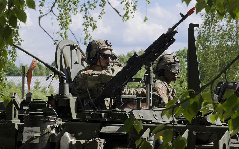 U.S. soldiers with Enhanced Forward Presence Battle Group Poland arrived to Rukla, Lithuania, after a two-day tactical road march across Eastern Europe in June 2017, as part of Saber Strike 17. The U.S. needs to share more intelligence about Russian activities, according to a think tank report.