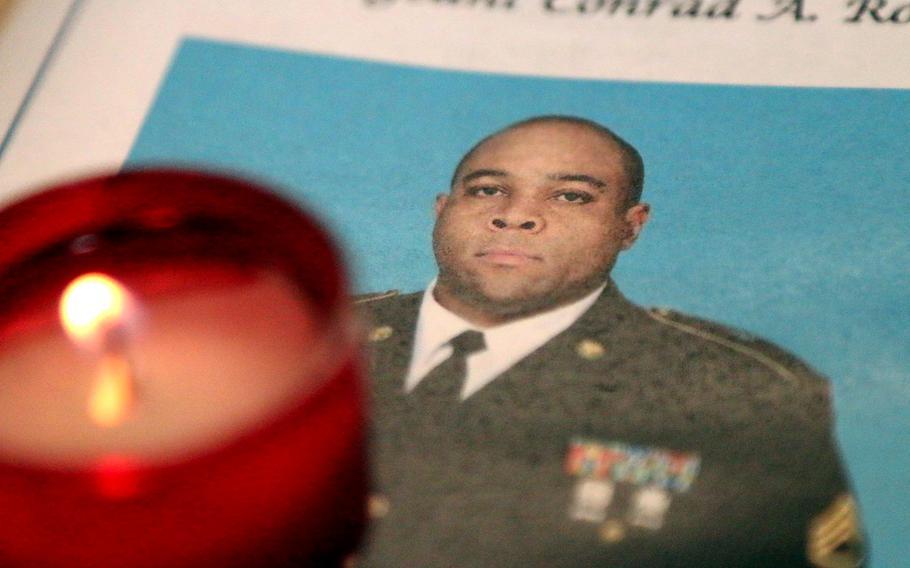 Staff Sgt. Conrad Robinson died at Camp Bondsteel, Kosovo, on May 24, 2018.
