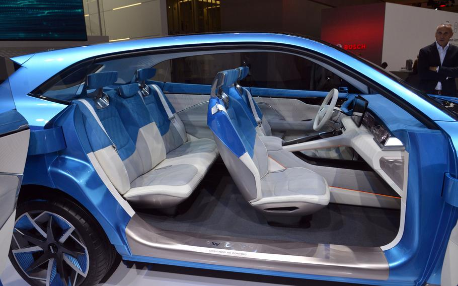 A look inside the Chinese Wey S concept car at the IAA in Frankfurt. A number of Chinese manufactures have cars on display at the international car show.