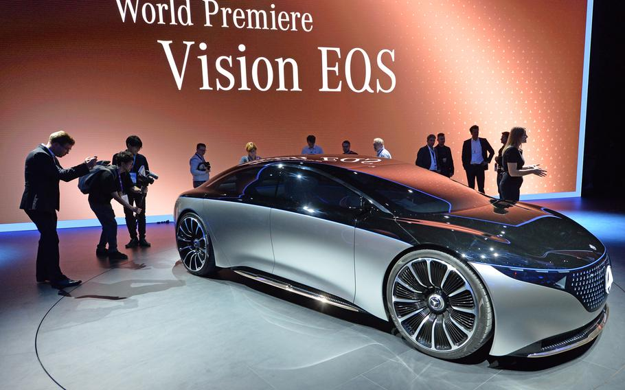 Mercedes-Benz debuted their Vision EQS concept car at the IAA in Frankfurt. Powered by two electric motors, it has a 469-horsepower rating. Almost all the car companies had electric vehicles on display at the international car show.