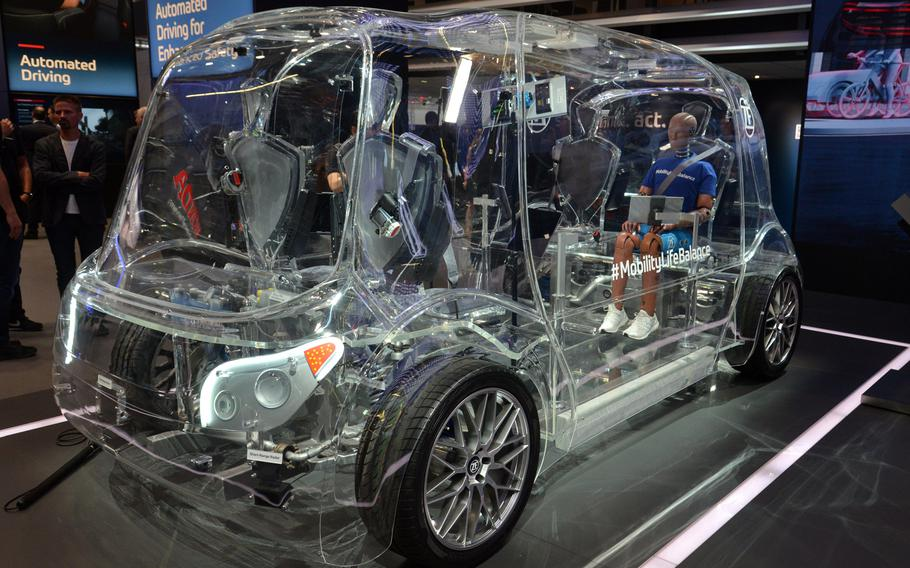 The German company ZF is showing a see-through driverless minibus concept at the IAA in Frankfurt. Much of the focus of this year's auto show is on electric cars, sustainability and the future of the automobile.