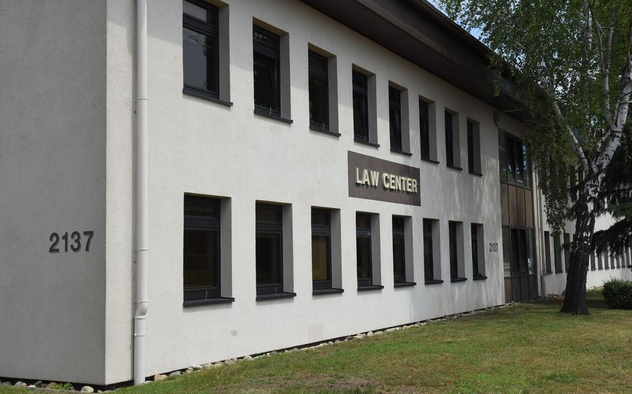 The law center at Ramstein Air Base, Germany. An Air Force staff sergeant will spend five years in jail for secretly recording seven women, including several airmen whom he worked with or befriended, while they visited or stayed in his home.
