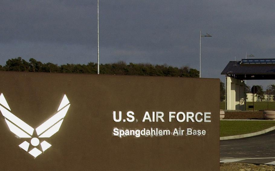 Two airmen were killed and one was injured Monday, Sept. 30, 2019, in a car accident on Spangdahlem Air Base?s perimeter road.