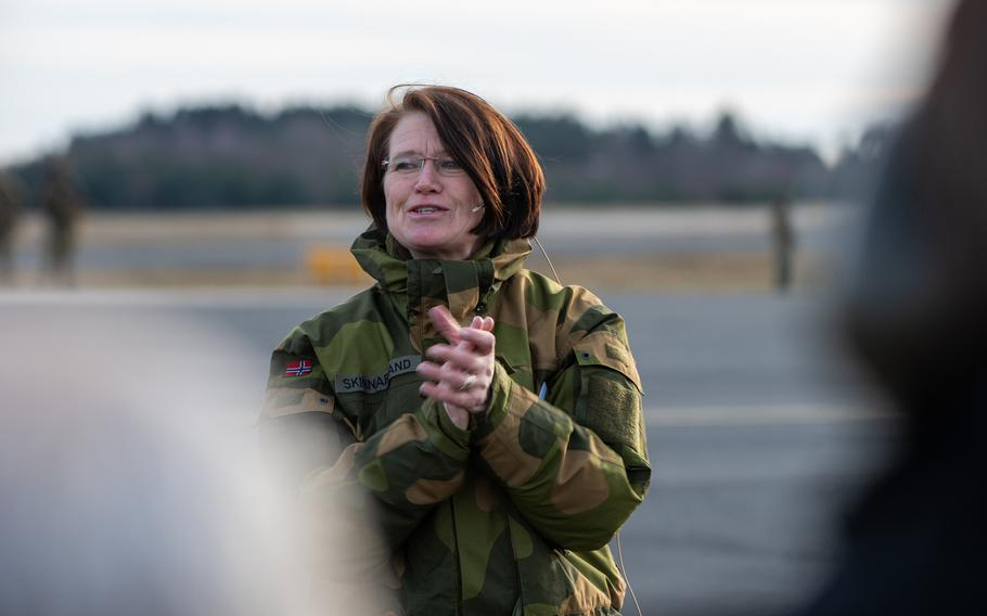 Maj. Gen. Tonje Skinnarland declared at the Royal Norwegian Air Force base in Rygge, Nov. 6, 2019, that Norway's F-35s have achieved Initial operational capability.