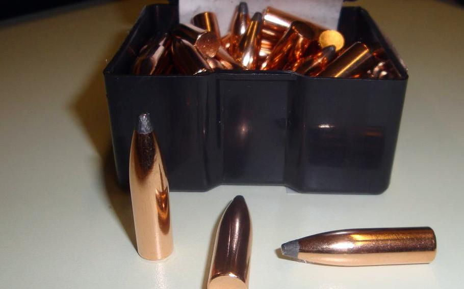 A service member at Ramstein Air Base received a box of .30-caliber bullets in the mail instead of the chocolate sauce that he had ordered.
