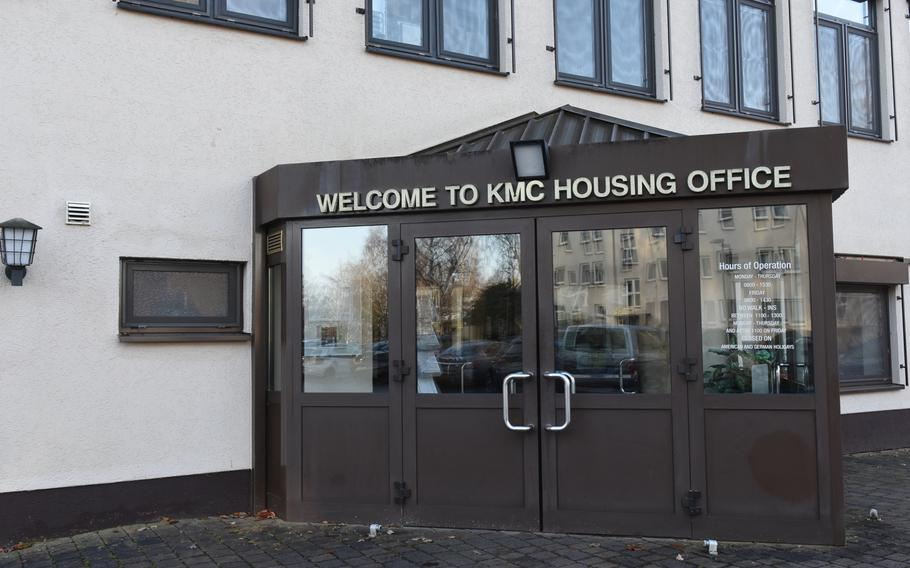 The KMC Housing Office on Vogelweh, an air base near Kaiserslautern, Germany, serves the largest U.S. military community overseas. The housing office will no longer vet off-base rental leases for excessive rates, meaning landlords who charge higher rents will be able to list their property with the housing office.