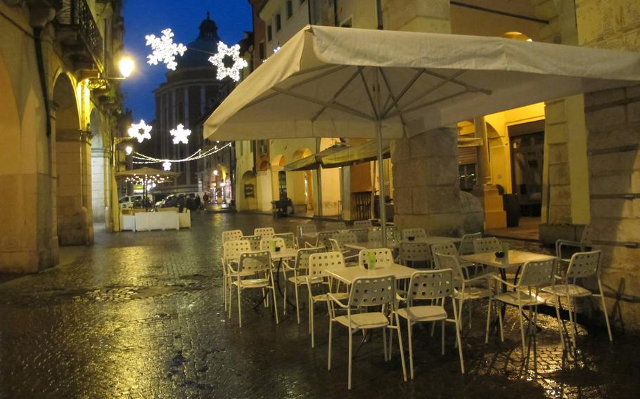 This small street in Vicenza's old town was off limits to 173rd Airborne Brigade soldiers for 45 days after a group of paratroopers was accused of assaulting Italian men. The street has several popular bars.