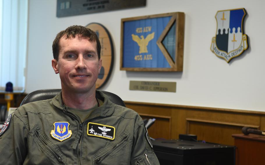 Col. David C. Epperson, the 52nd Fighter Wing commander at Spangdahlem Air Base, said the base readiness exercise this week at Spangdahlem is an opportunity for the wing to demonstrate it can continue to train and be mission-ready while dealing with the threat of the coronavirus.