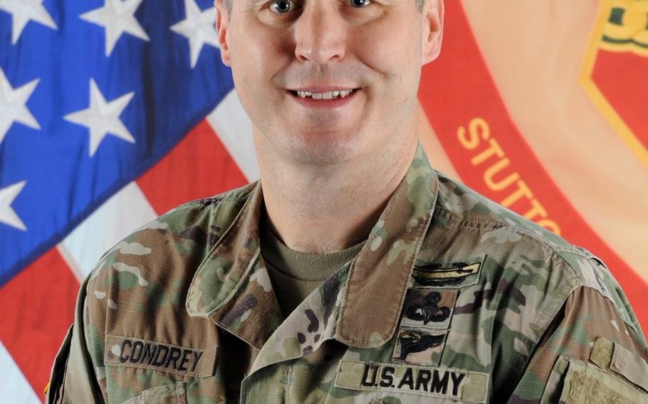 Col. Jason Condrey, U.S. Army Garrison Stuttgart commander.