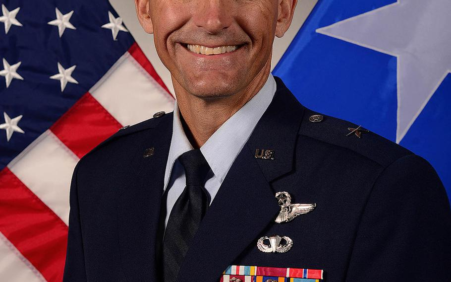 Brig. Gen. Daniel T. Lasica, outgoing commander of the 31st Fighter Wing at Aviano Air Base, Italy.