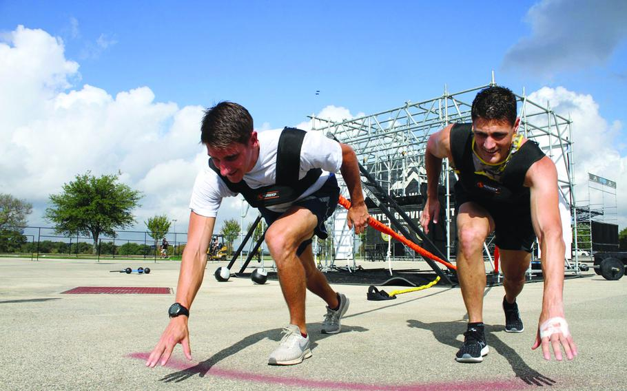 Brothers Air Force Capt. Noah Palicia and Army Lt. Col. Eric Palicia competed against other members of their service branches in September 2019, in the Alpha Warrior competition at Retama Park near San Antonio, Texas.