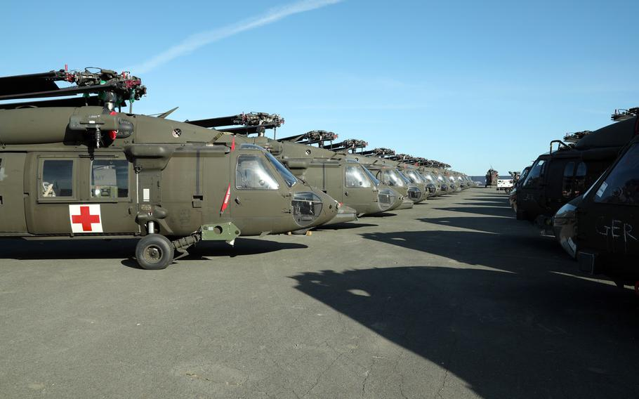 Helicopters from the 101st Airborne Division Combat Aviation Brigade, from Fort Campbell, Ky., began arriving in La Rochelle, France, on July 7, 2020, for the sixth rotation of Atlantic Resolve. The port at La Rochelle was a key hub for the Army during the Cold War and is now being used for the first time as part of the Atlantic Resolve mission.