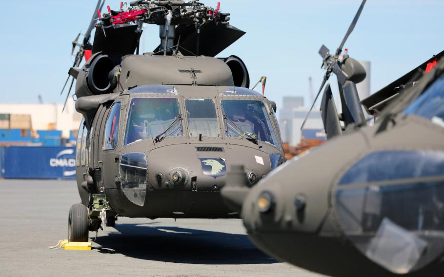 Helicopters from the 101st Airborne Division Combat Aviation Brigade, from Fort Campbell, Ky., began arriving in La Rochelle, France on July 7, 2020, for the sixth rotation of Atlantic Resolve.