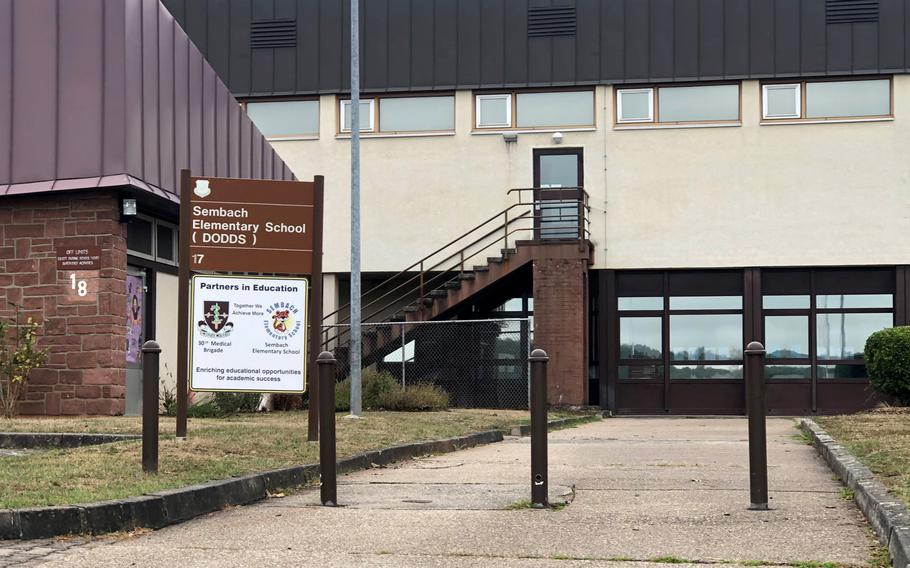 Two more students at Defense Department schools in the Kaiserslautern area have tested positive for the coronavirus, including one from Sembach Elementary School, officials said on Monday, Aug. 31, 2020.