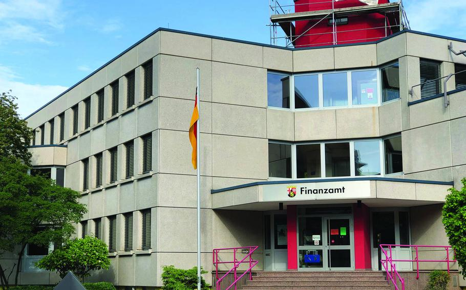 A questionnaire sent out by the tax office servicing the Landstuhl-Kusel region, pictured, seeks to to gather personal information about U.S. military personnel to build tax-liability cases against troops, service members and Defense Department civilians say.