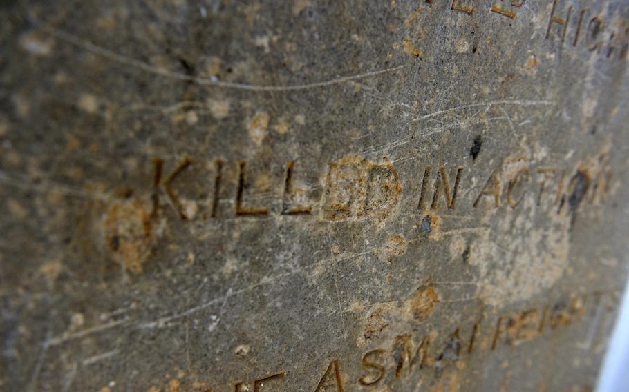 A 19th-century British soldier's gravestone preserved at a cemetery in Kabul. Armed with handcrafted jezail muskets that could be fired from long ranges, Afghan guerilla fighters were often able to inflict terrible losses on their better equipped British enemies.
