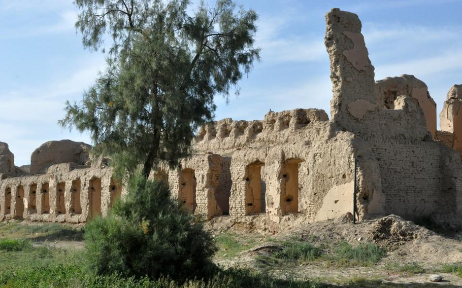 The remains of a British fort stand on the grounds of a NATO forward operating base in Nangarhar province, Afghanistan. The 19th-century British experience in facing tenacious Afghan guerilla fighters has been carefully studied by modern counterinsurgency experts.