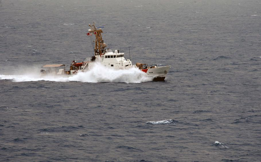 The U.S. Coast Guard Cutter Monomoy participates in the International Mine Countermeasures Exercise on May 21, 2013.