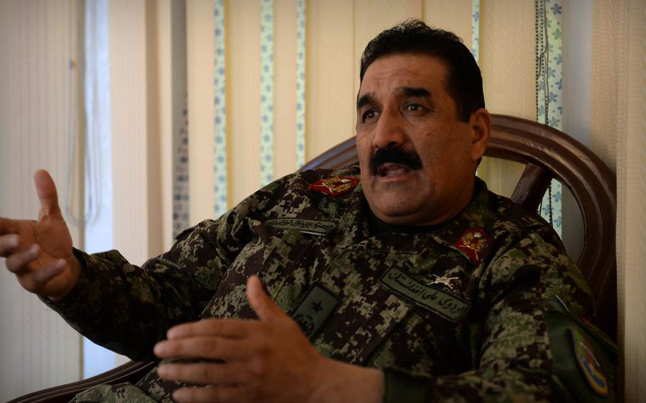 Gen. Noorullah Qadari, commander of the Afghan National Army's 201st Corps 1st Brigade, said Nov. 5, 2014, that the situation in restive Laghman province 'is good, but we are trying every day to make it better.' He said his forces will need continued support to make any gains against insurgents in the area.