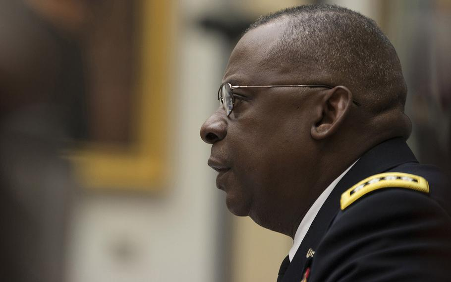 Gen. Lloyd Austin testifies in front of the House Armed Services Committee on Capitol Hill,  March 3, 2015.