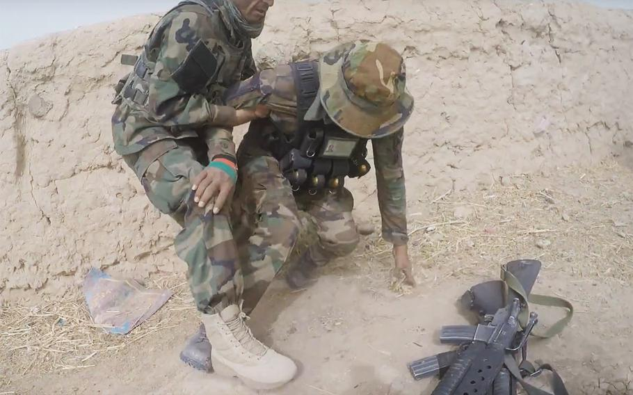 Afghan soldiers during the battle for Kunduz.