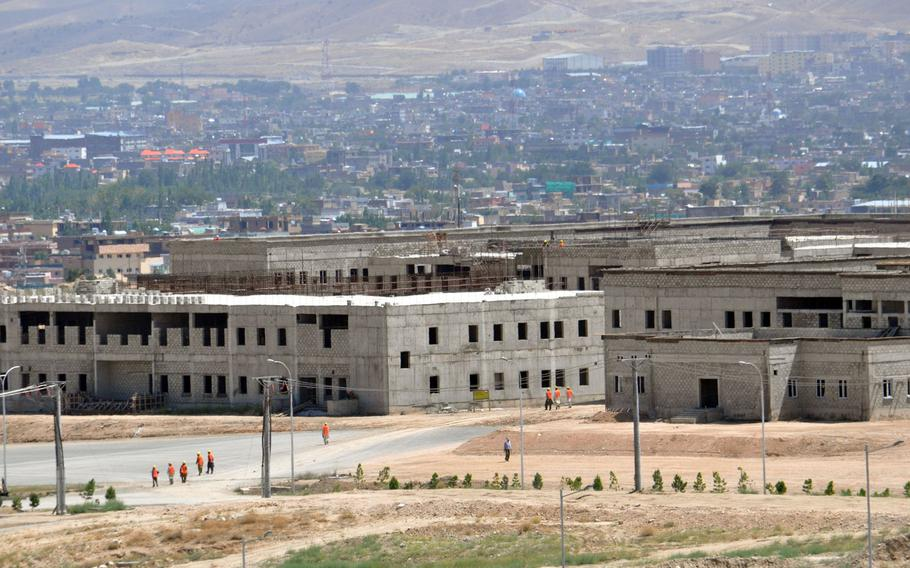 The Marshal Fahim National Defense University in Kabul is shown here in 2015. The Islamic State group claimed responsibility for a Monday attack there.